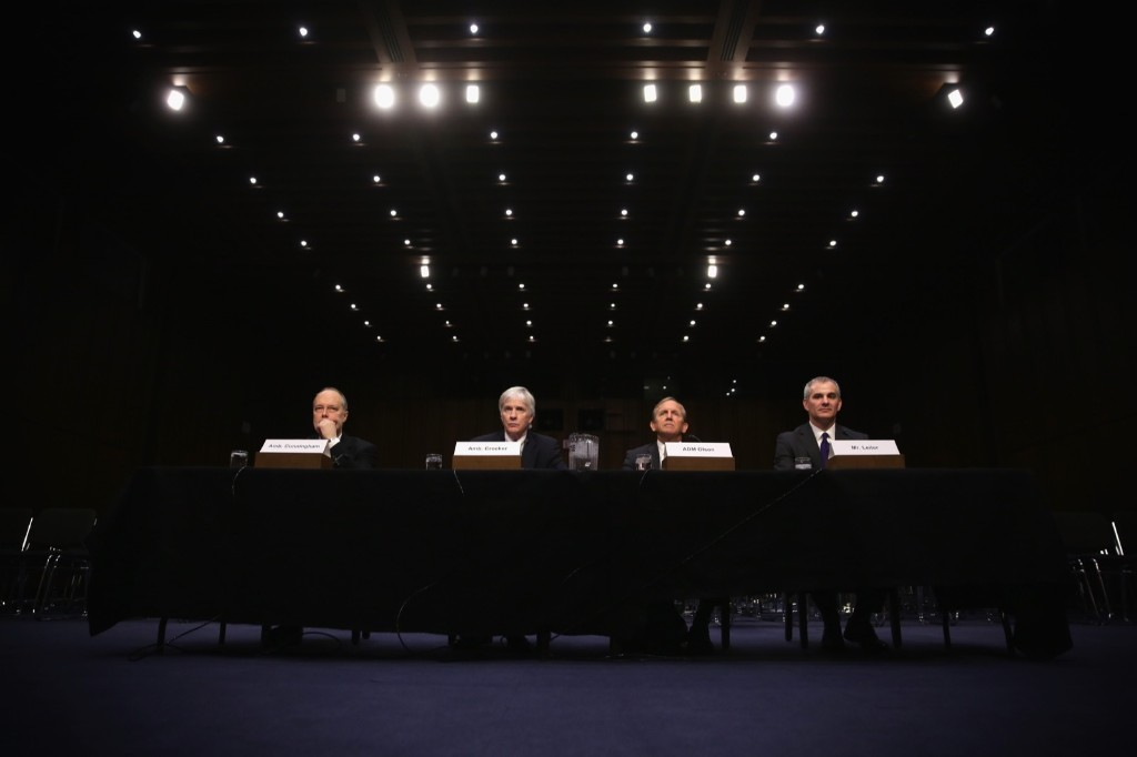 A hearing before the Senate Armed Services Committee on Capitol Hill. Alex Wong/Getty Images