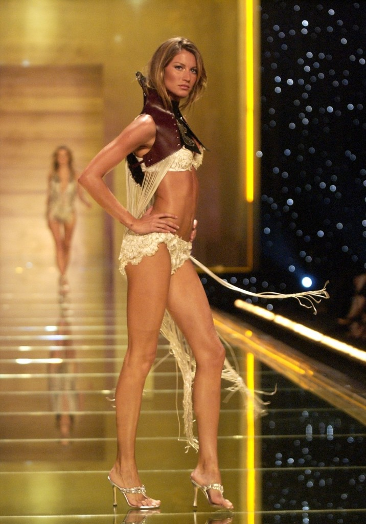 Gisele Bundchen during 8th Annual Victoria's Secret Fashion Show, in New York, November 14, 2002. Kevin Mazur/WireImage/Getty Images