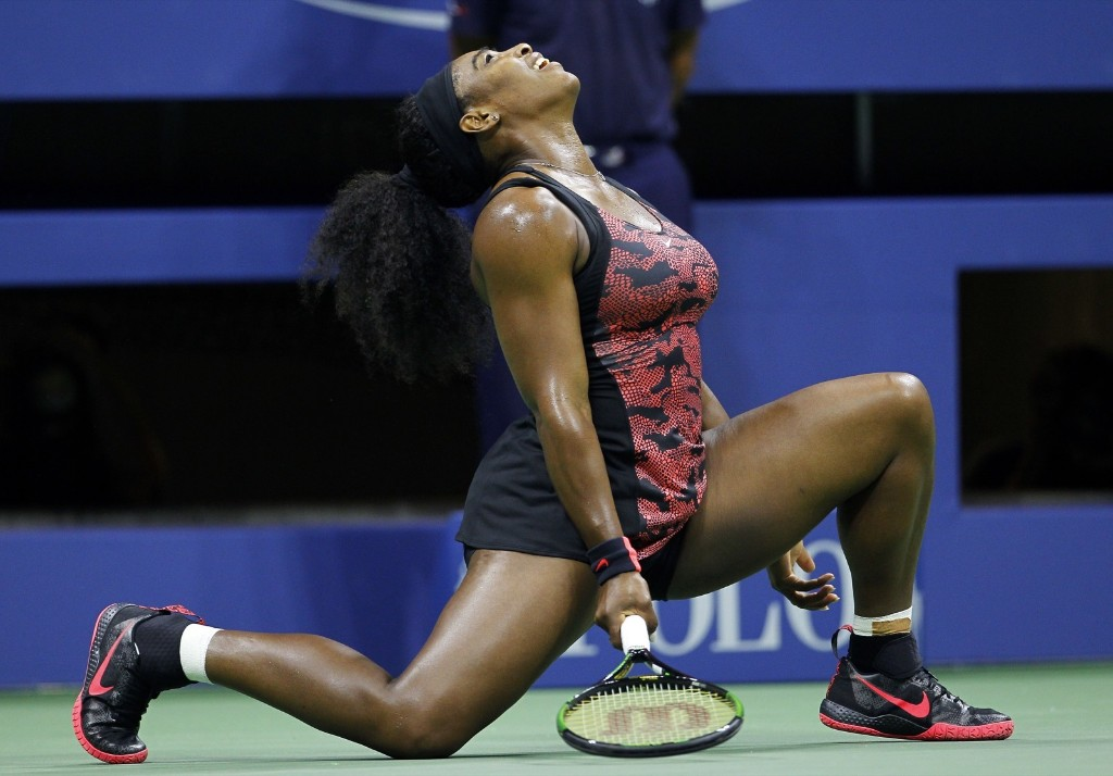 Serena Williams of the U.S. during her match against her sister Venus Williams at the U.S. Open tennis tournament in New York, Tuesday. Gary Hershorn/Corbis