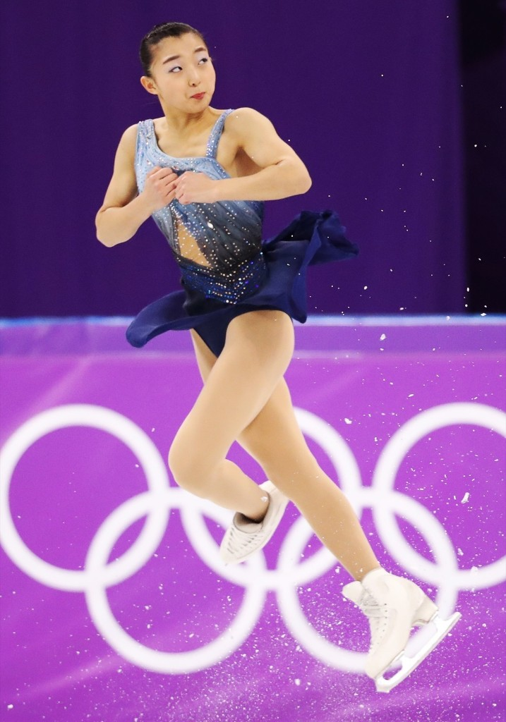 Kaori Sakamoto of Japan during women's short program. REUTERS/Lucy Nicholson