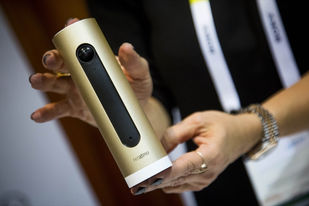 The Netatmo SAS Welcome facial recognition camera. Michael Nagle/Bloomberg/Getty Images