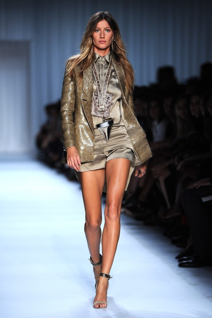 Gisele Bundchen during the Givenchy Ready to Wear Spring/Summer 2012 show in Paris, October 2, 201. Pascal Le Segretain/Getty Images