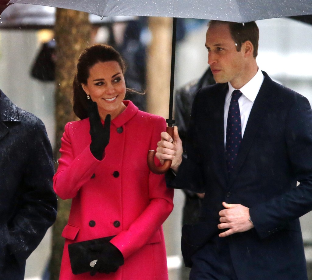 Prince William, the Duke of Cambridge, and Catherine, Duchess of Cambridge visit the National Sept.11 Memorial and Museum, Tuesday in New York. AP Photo/Jason DeCrow