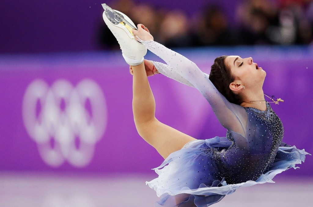 Evgenia Medvedeva, an Olympic Athlete from Russia, during the women's short program. REUTERS/John Sibley