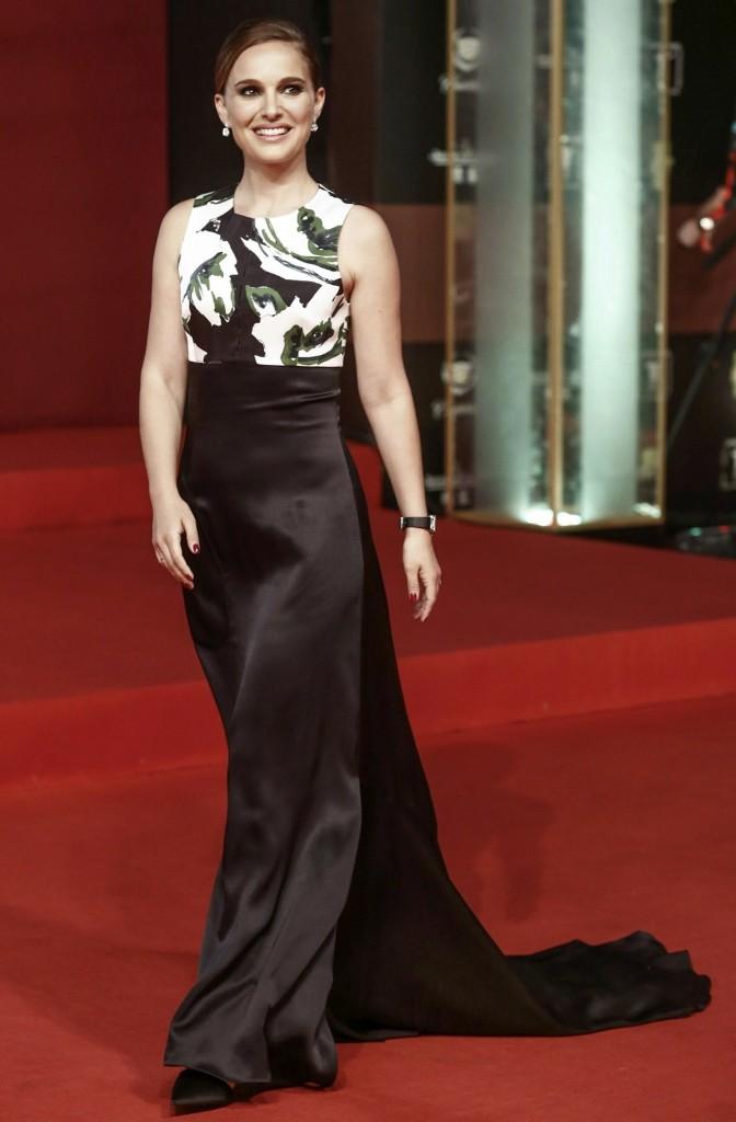 Natalie Portman during the closing ceremony of the 17th Shanghai International Film Festival. REUTERS/Stringer