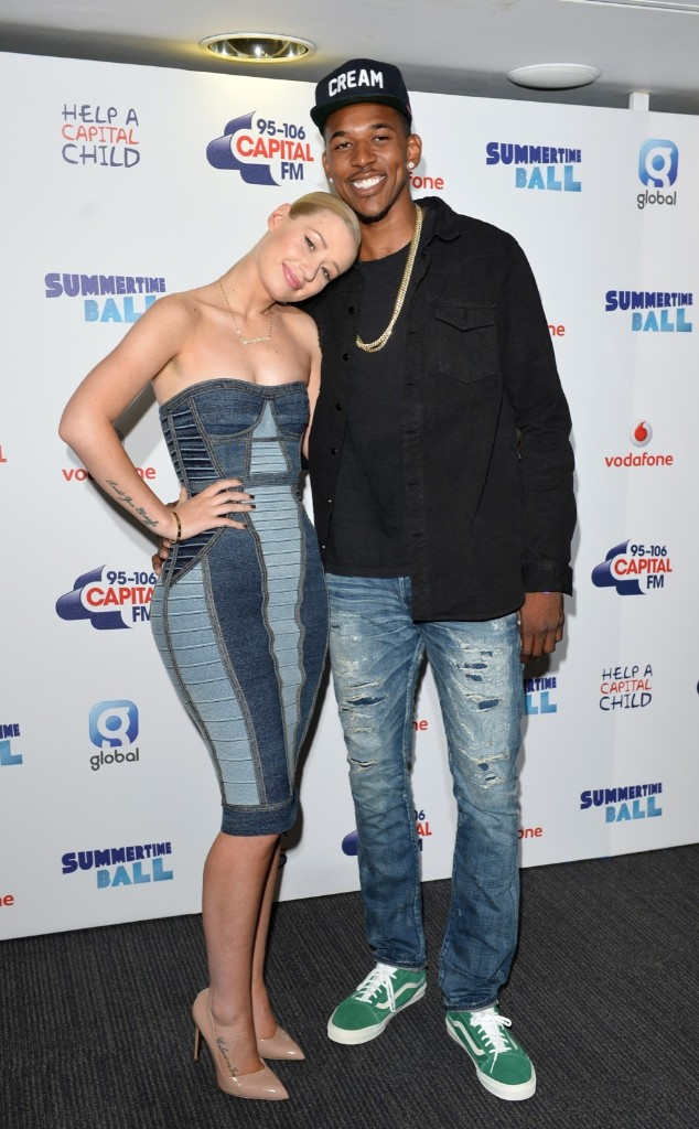 Iggy Azalea and Nick Young attend the Capital Summertime Ball at Wembley Stadium. Karwai Tang/WireImage