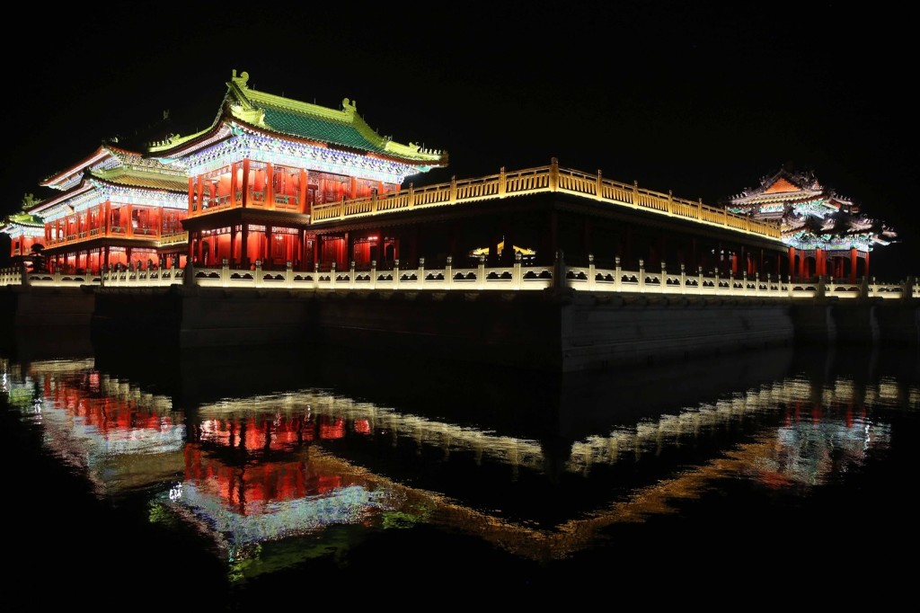 The Yuanmingyuan Imperial Garden, a newly-built replica of the Old Summer Palace, in Dongyang, Jinhua, Zhejiang, China. ChinaFotoPress via Getty Images