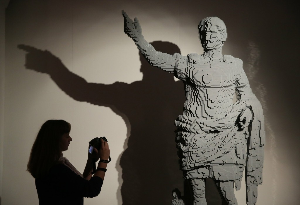 The sculpture 'Augustus of Prima Porta'. REUTERS/Paul Hackett
