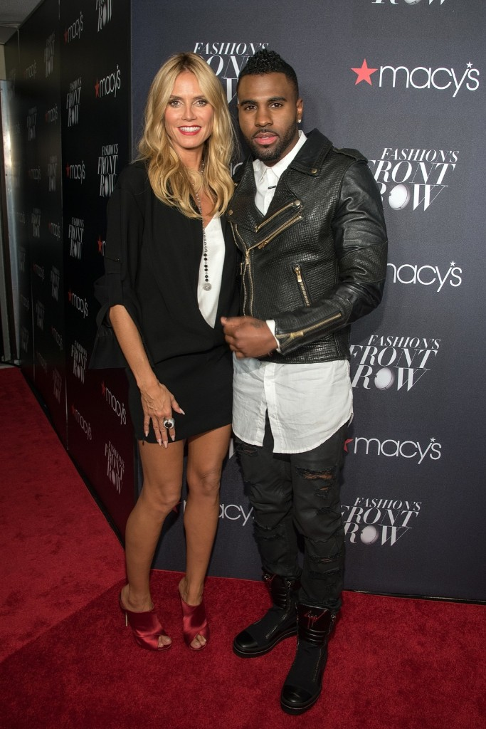 Heidi Klum and Jason Derulo attend Macy's Presents Fashion's Front Row at The Theater at Madison Square Garden. Mike Pont/WireImage