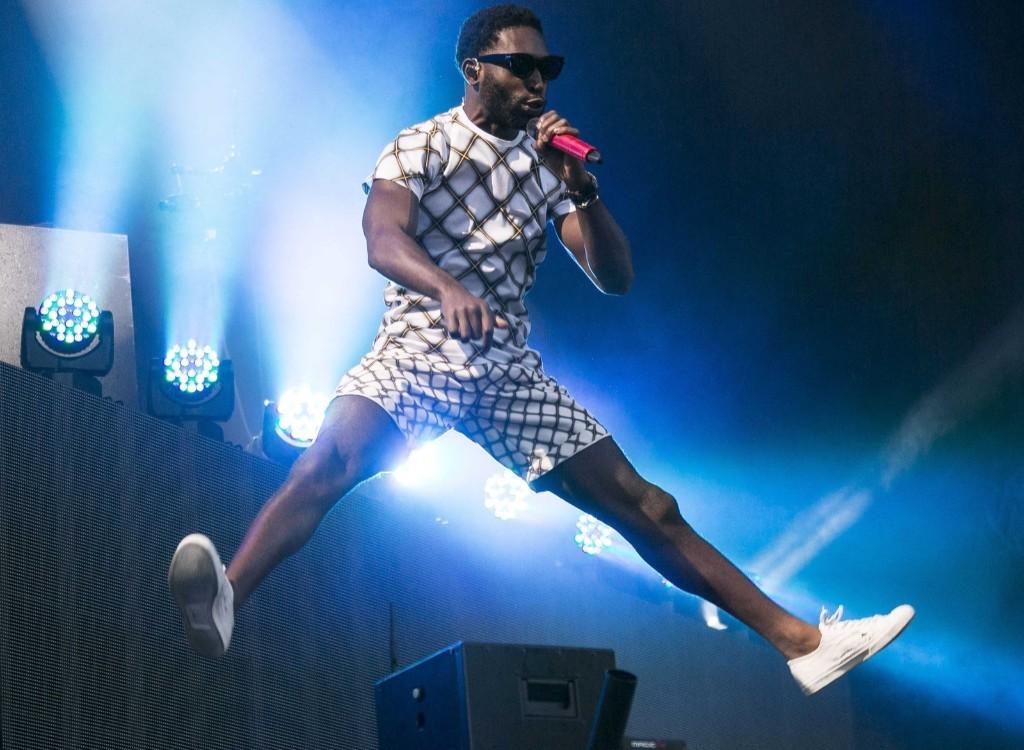British rapper Tinie Tempah during V Festival at Hylands Park in Chelmsford, Essex. Joel Ryan/Invision/AP
