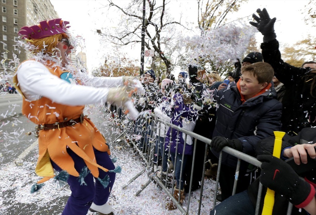 A performer causing a snow flurry during a real snow flurry. AP Photo/Julio Cortez