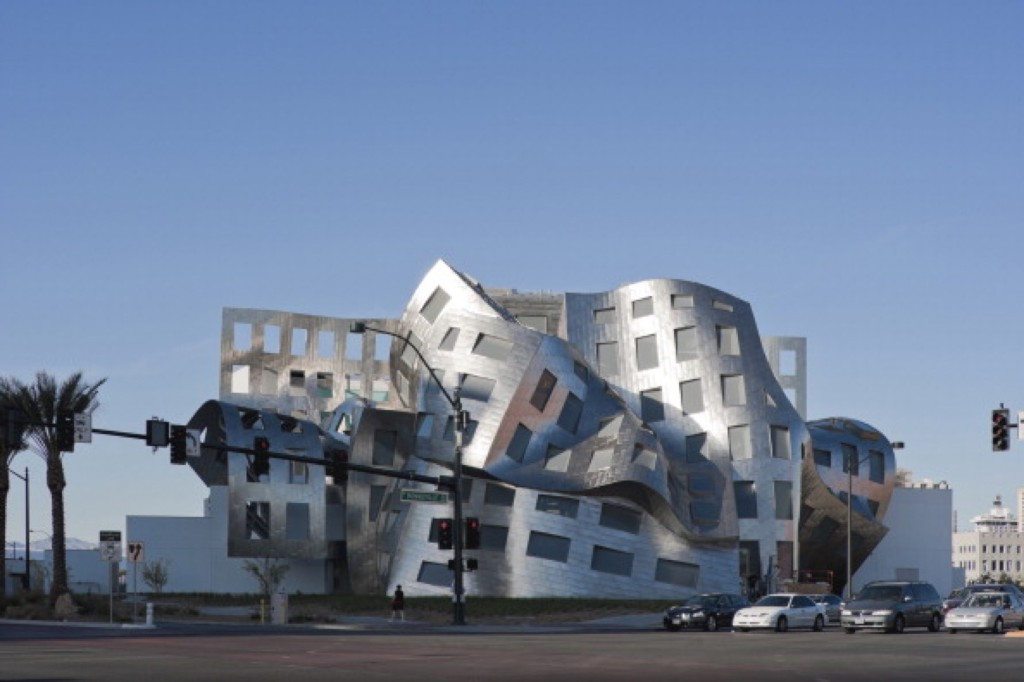 Exterior of the Cleveland Clinic, Lou Ruvo Center for Brain Health by architect Frank Gehry. Arcaid/UIG via Getty Images