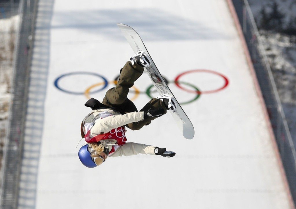 Anna Gasser of Austria winning the women's big air snowboarding finals. REUTERS/Kim Hong-Ji