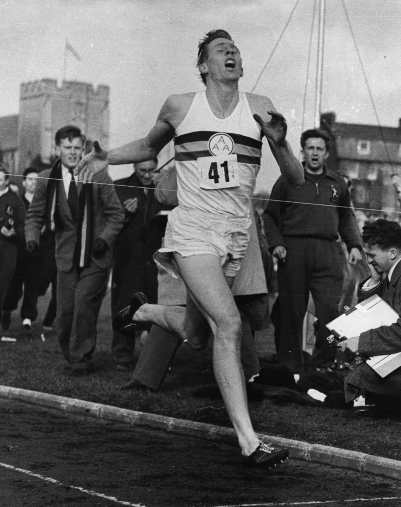 Roger Bannister in 1954. Norman Potter/Central Press/Getty Images