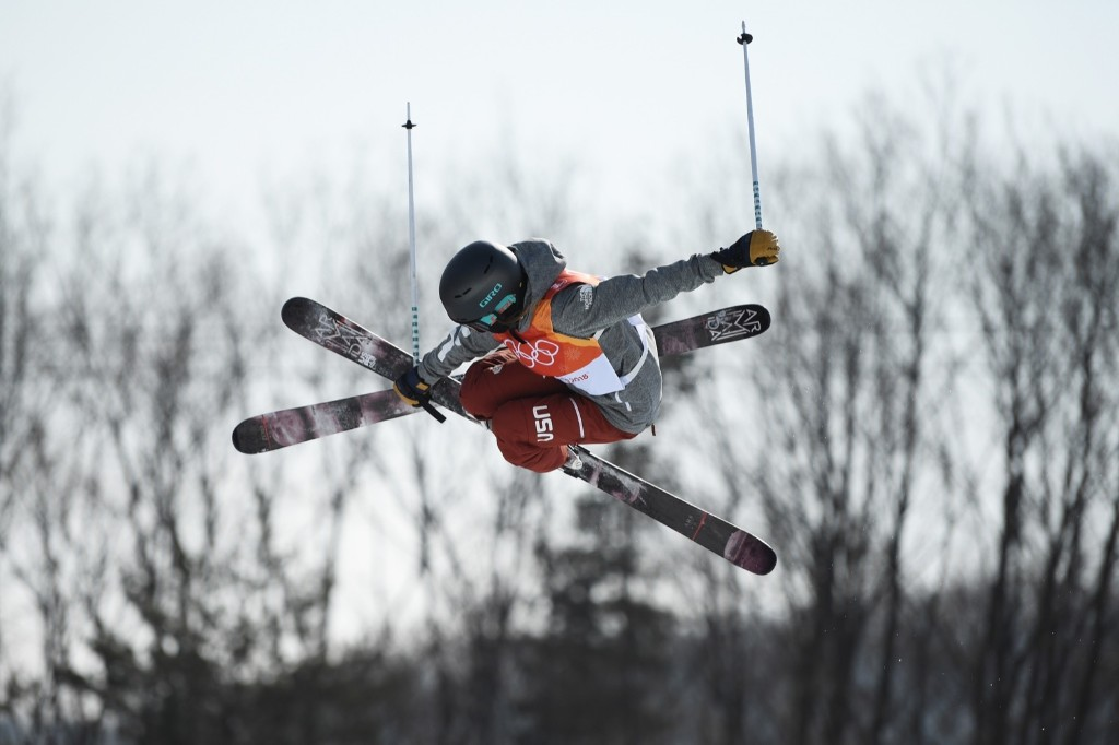 Brita Sigourney of the U.S. taking bronze in women's ski halfpipe finals. Matthias Hangst/Getty Images