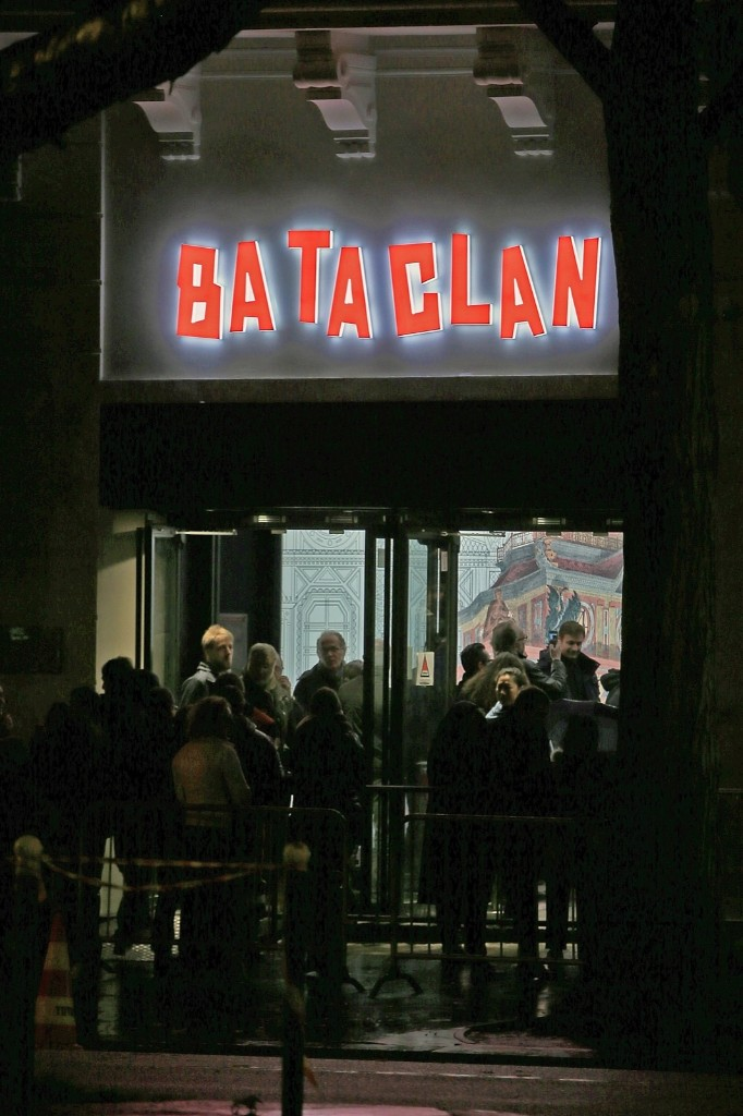 Concert goers in front of the entrance of Le Bataclan Concert Hall in Paris, one year after the massacre that killed 90 music fans. Pierre Suu/Getty Images