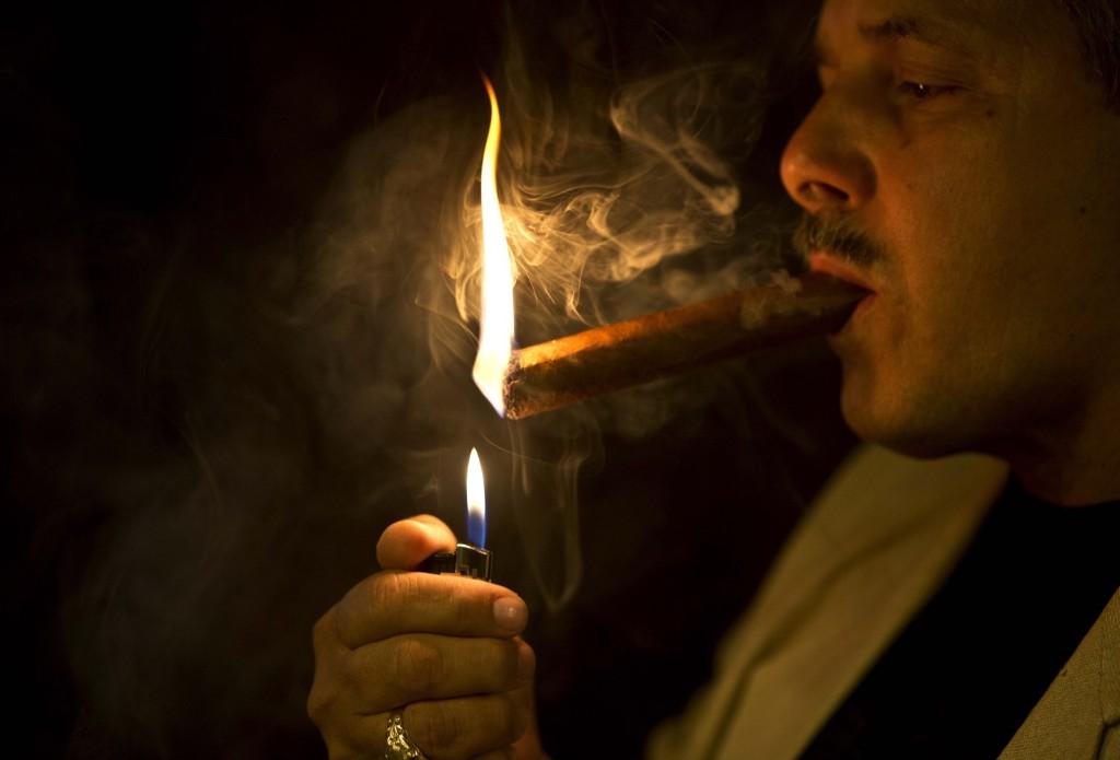 A man in a cigar shop in Havana. AP Photo/Ramon Espinosa