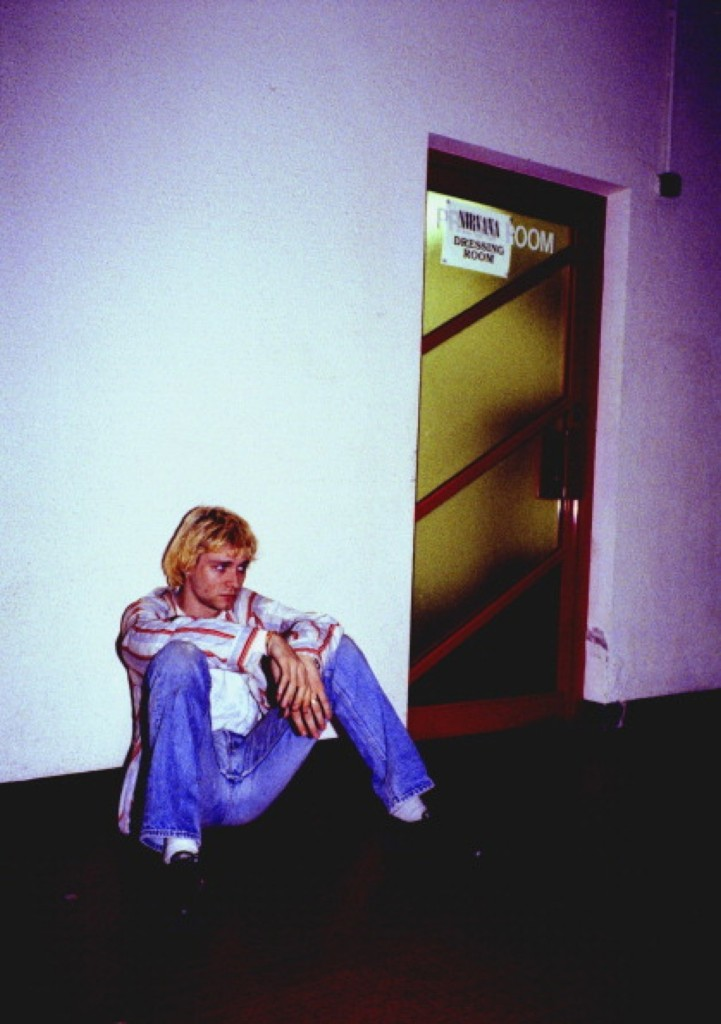 Cobain backstage in Belfast, 1992. Steve Pyke/Getty Images