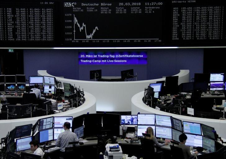 European shares slip on trade tensions; Nexans down, M&A in focus