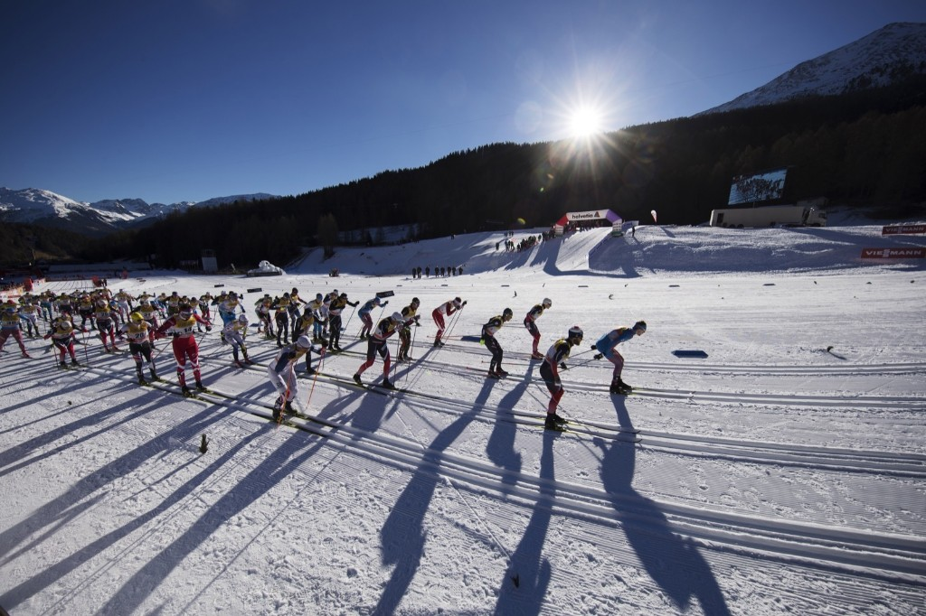 The men's 10km cross country mass start in Val Mustair, Switzerland. Nils Petter Nilsson/Getty Images
