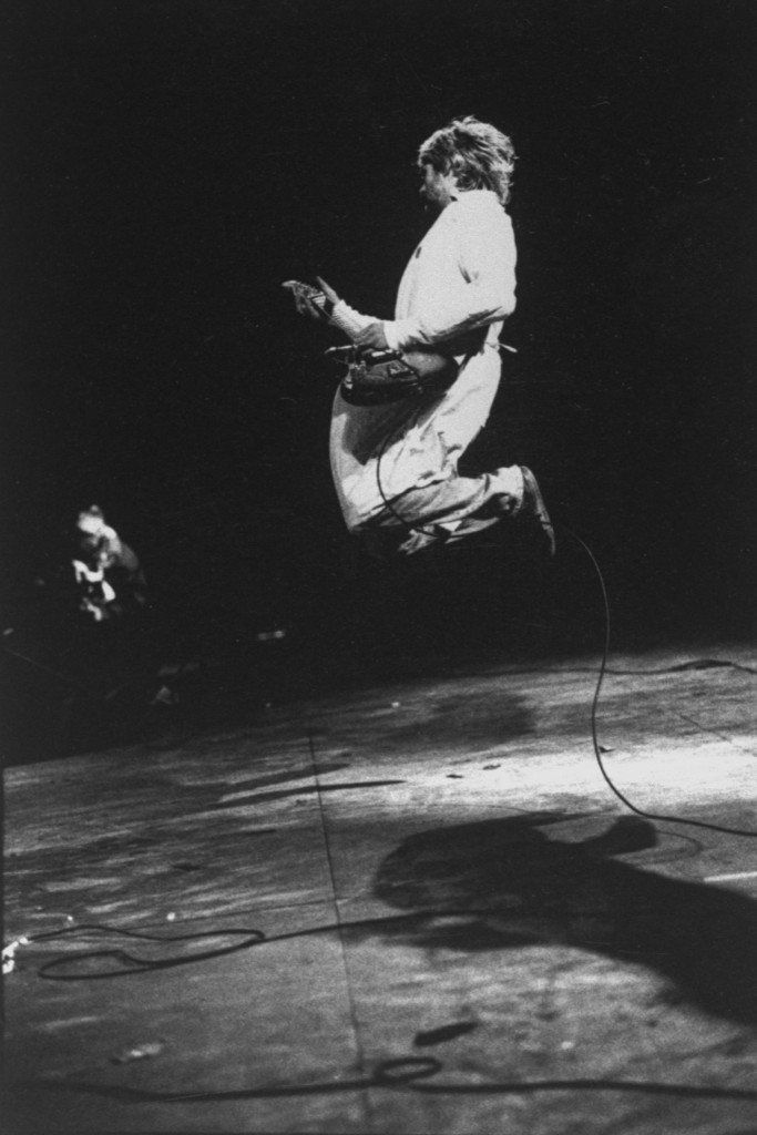 Cobain in concert in the UK. Charles J. Peterson//Time Life Pictures/Getty Images