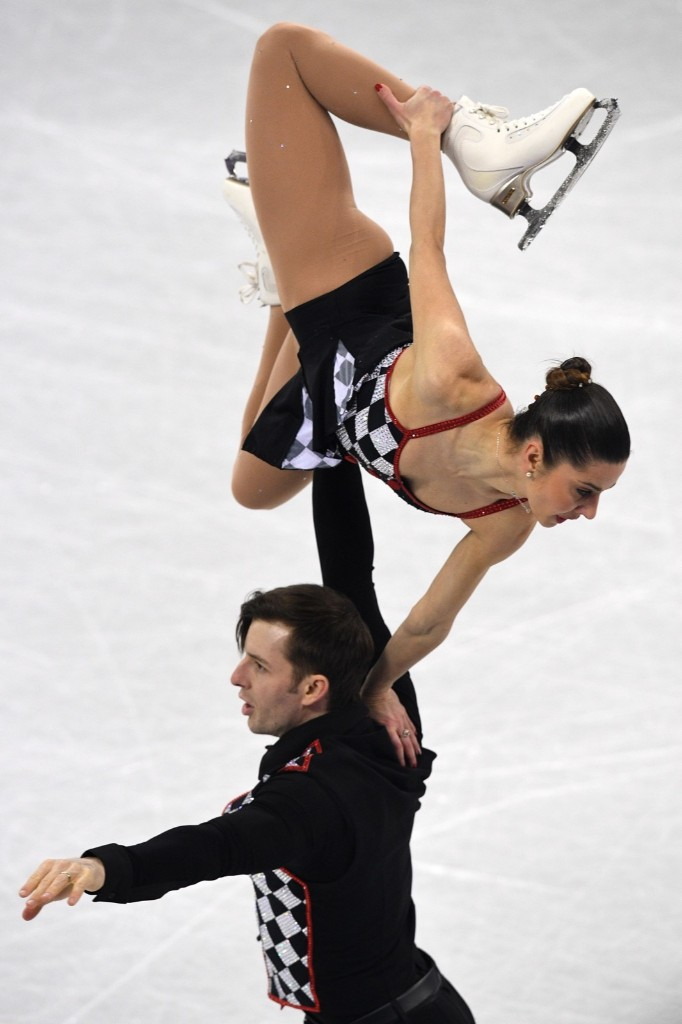 Italy's Valentina Marchei and Italy's Ondrej Hotarek during the pairs free skate in the team event. ROBERTO SCHMIDT/AFP/Getty Images