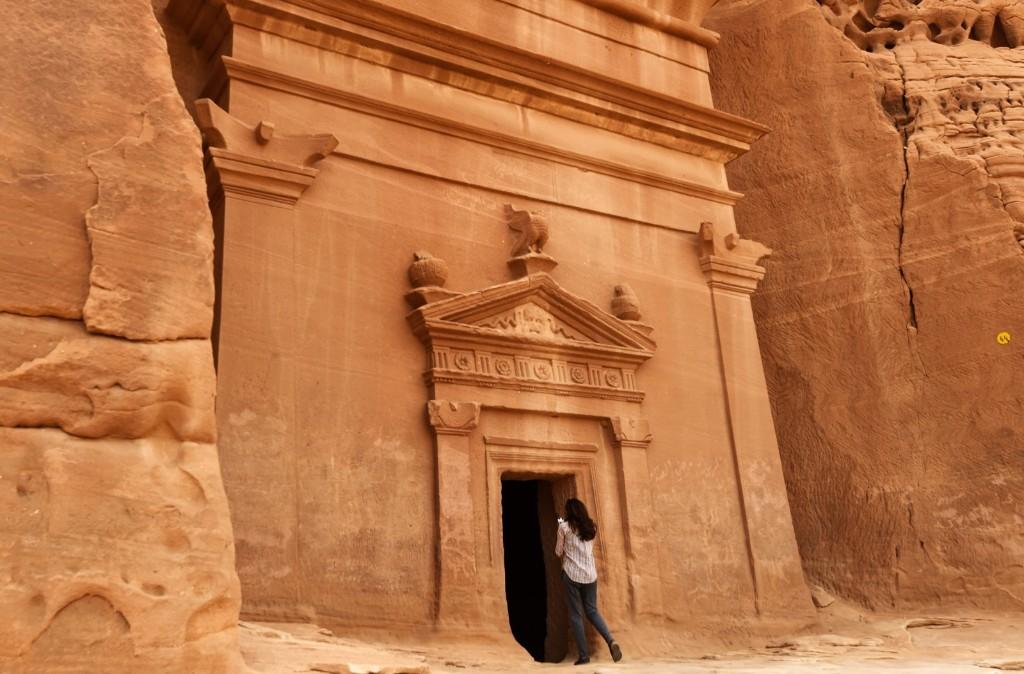 The tomb at Madain Saleh near Saudi Arabia's northwestern town of al-Ula. FAYEZ NURELDINE/AFP/Getty Images