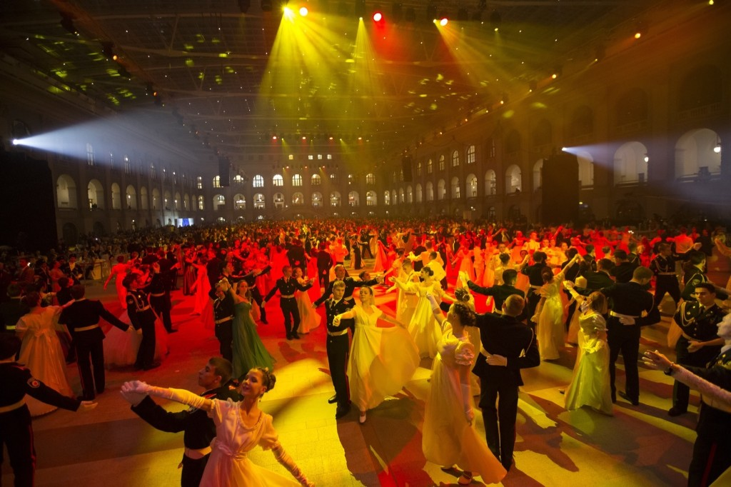 The annual military students ball in Moscow. AP Photo/Alexander Zemlianichenko