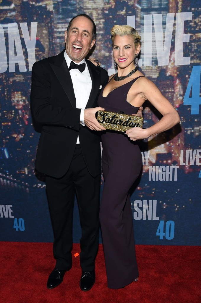 Jerry Seinfeld nd Jessica Seinfeld attend the SNL 40th Anniversary Special, Sunday, in New York. Larry Busacca/Getty Images