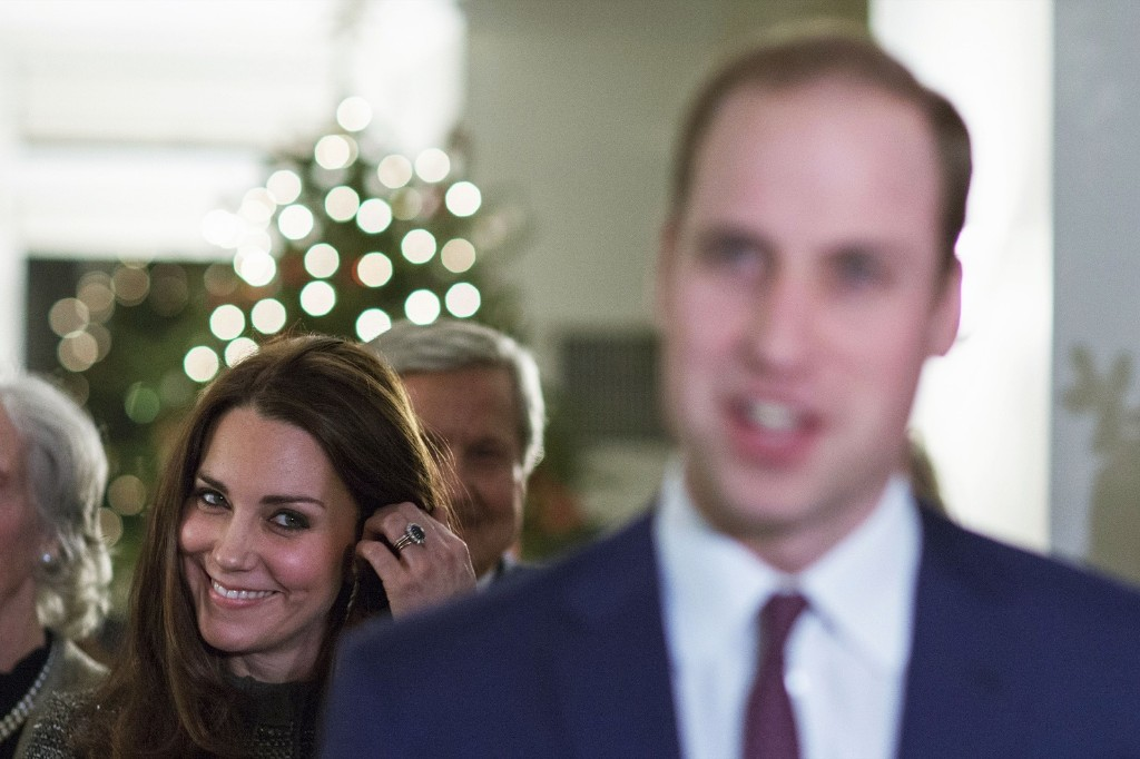 Kate, the Duchess Of Cambridge listens to Britain's Prince William, the Duke of Cambridge during a reception co-hosted by the Royal Foundation and the Clinton Foundation in New York, Monday. AP Photo/Eduardo Munoz Alvarez-Pool