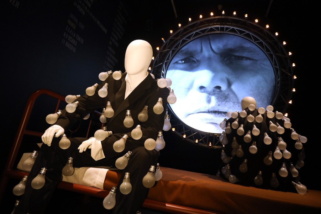 Mannequins dressed in 'lightbulb suits' during a preview of the Pink Floyd Exhibition: 'Their Mortal Remains'. Tim P. Whitby/Getty Images