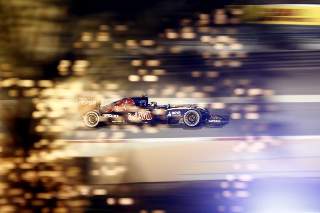 Toro Rosso driver Max Verstappen of the Netherlands steers his car during the Bahrain Formula One Grand Prix. AP Photo/Hassan Ammar
