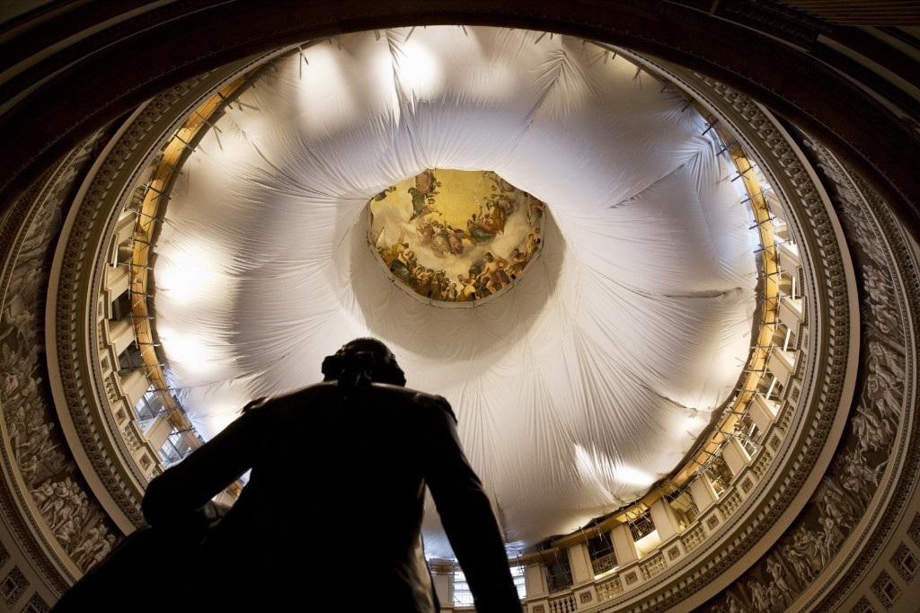 A statue of George Washington under the Rotunda of the Capitol. AP Photo/Jacquelyn Martin