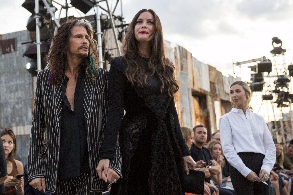 Steven Tyler arrives with his daughter Liv Tyler for a presentation of the Givenchy Spring/Summer 2016 collection. REUTERS/Lucas Jackson
