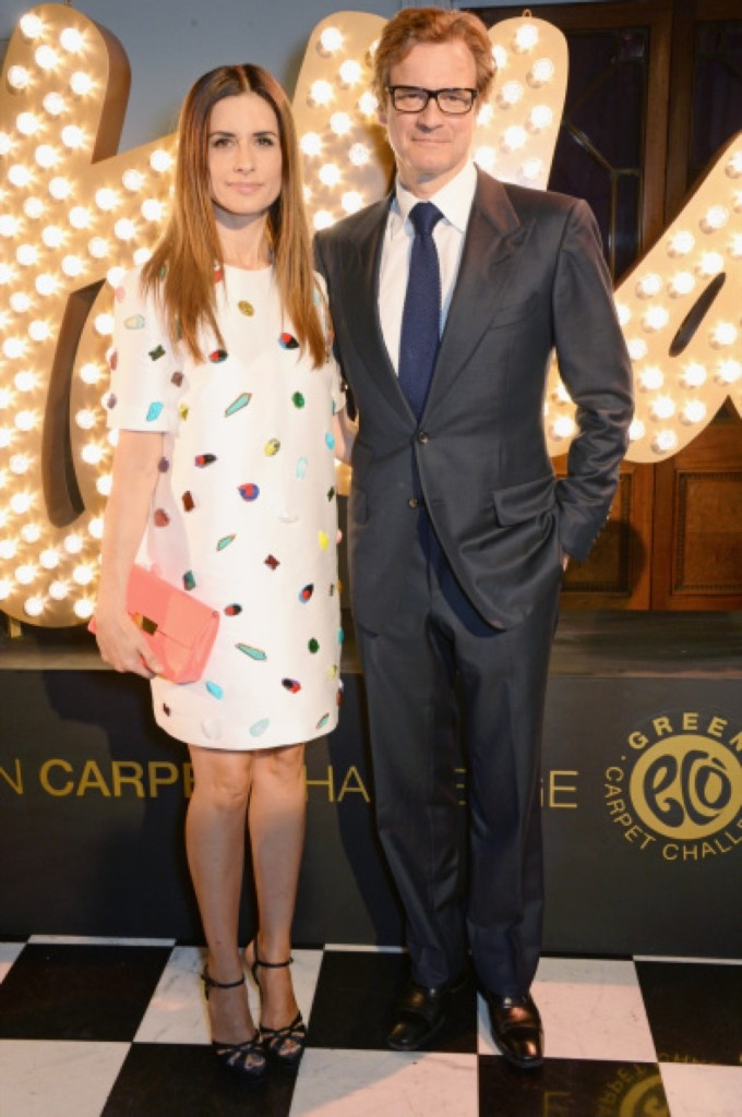 Livia and Colin Firth. David M. Benett/Getty Images for Eco-Age/Green Carpet Collection