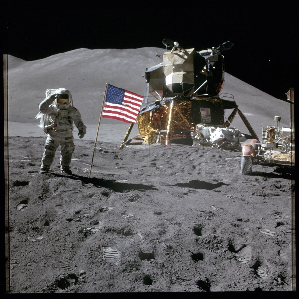 Apollo 15 Hasselblad image from film magazine 88/TT - EVA-3. NASA Photo