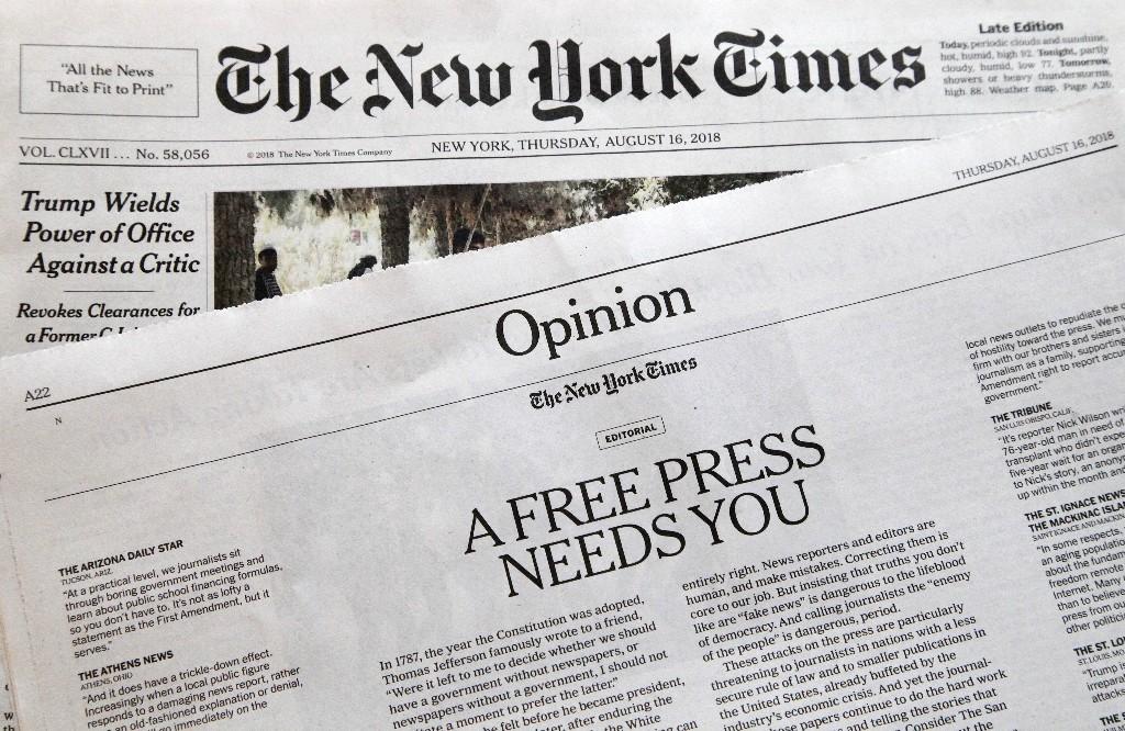 US newsrooms to Trump: We're not enemies of the people