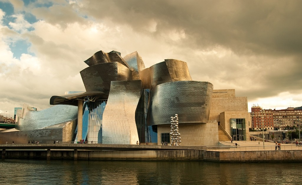 The Bilbao Guggenheim museum by the architect Frank Gehry in Spain. Getty Images