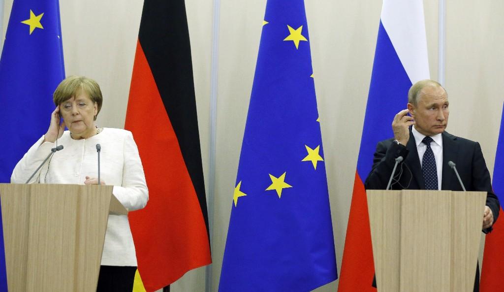 Merkel, Putin share a headache: Donald Trump