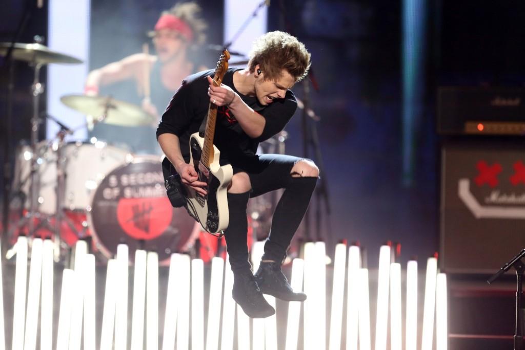 Luke Hemmings of 5 Seconds of Summer. Matt Sayles/Invision/AP