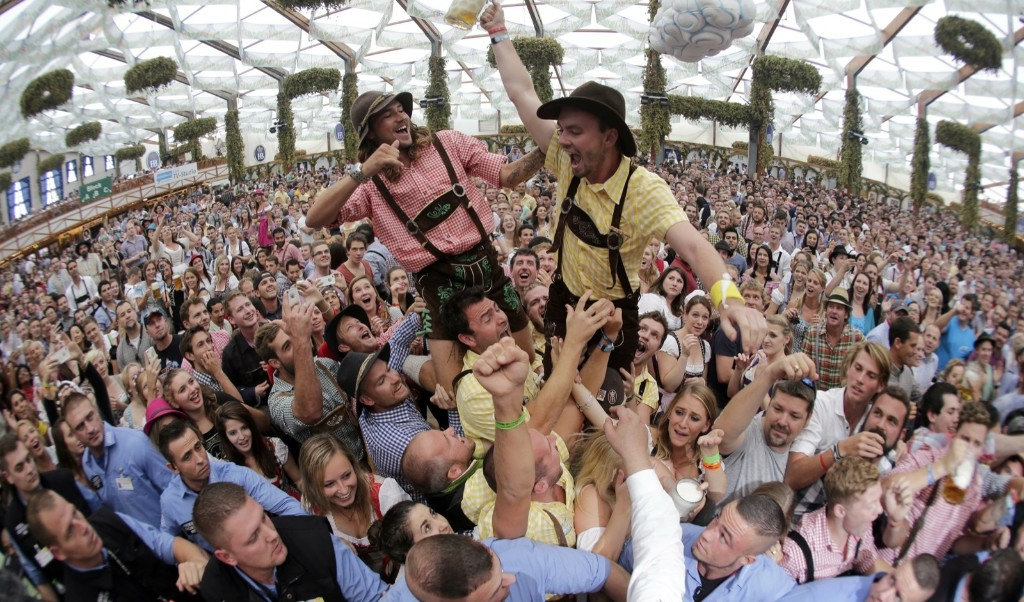 The opening of the 181th Oktoberfest beer festival in Munich. AP Photo/Matthias Schrader