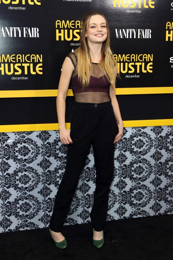 """Actress Emily Meade at premiere of """"American Hustle."""" Monica Schipper/Getty Images for Grey Goose"""