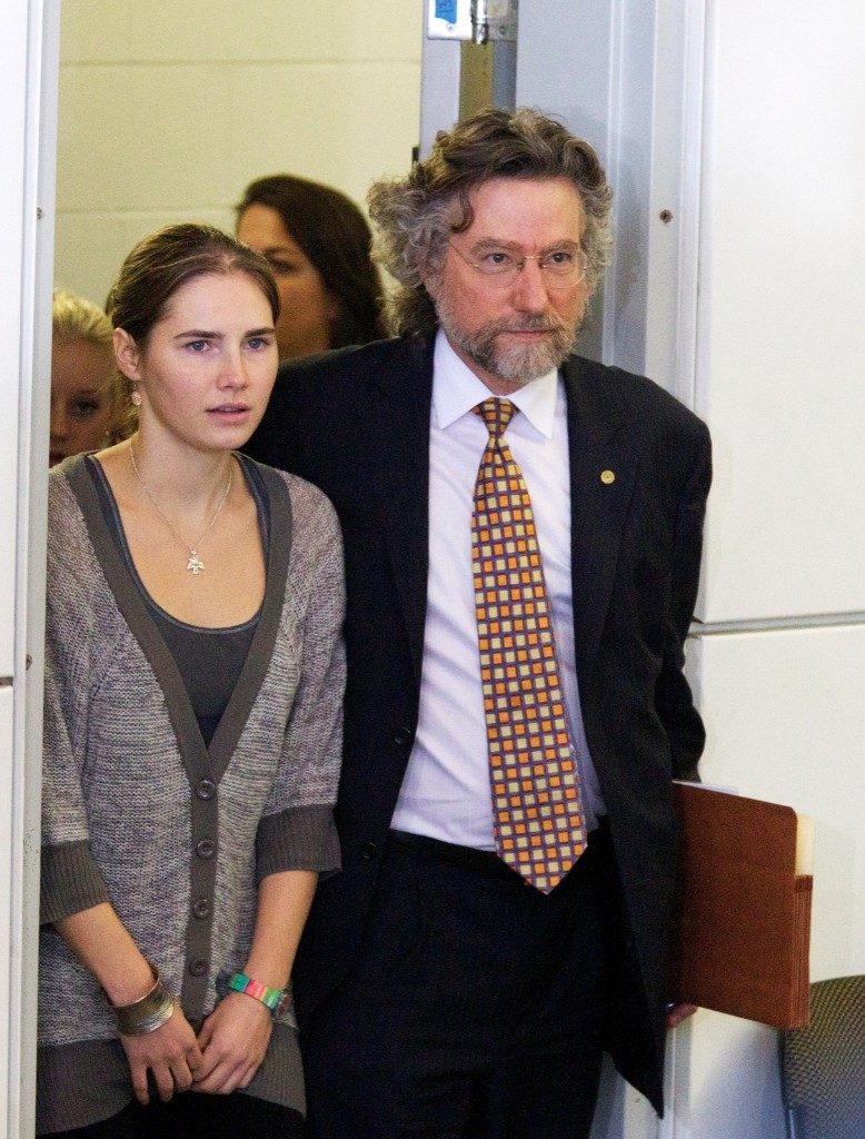 Amanda Knox following her return to Seattle after being freed from an Italian prison, Oct. 4, 2011. Stephen Brashear/Getty Images