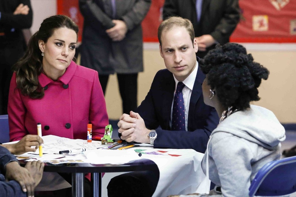 "Prince William, Duke of Cambridge and Catherine, the Duchess of Cambridge visit the organization ""The Door"" and the City Kids Foundation in New York, Tuesday. Kena Betancur-Pool/Getty Images"