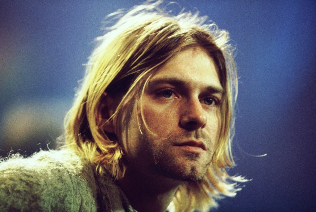 Cobain during taping of 'MTV Unplugged' at Sony Studios in New York, 1993. Frank Micelotta/Getty Images