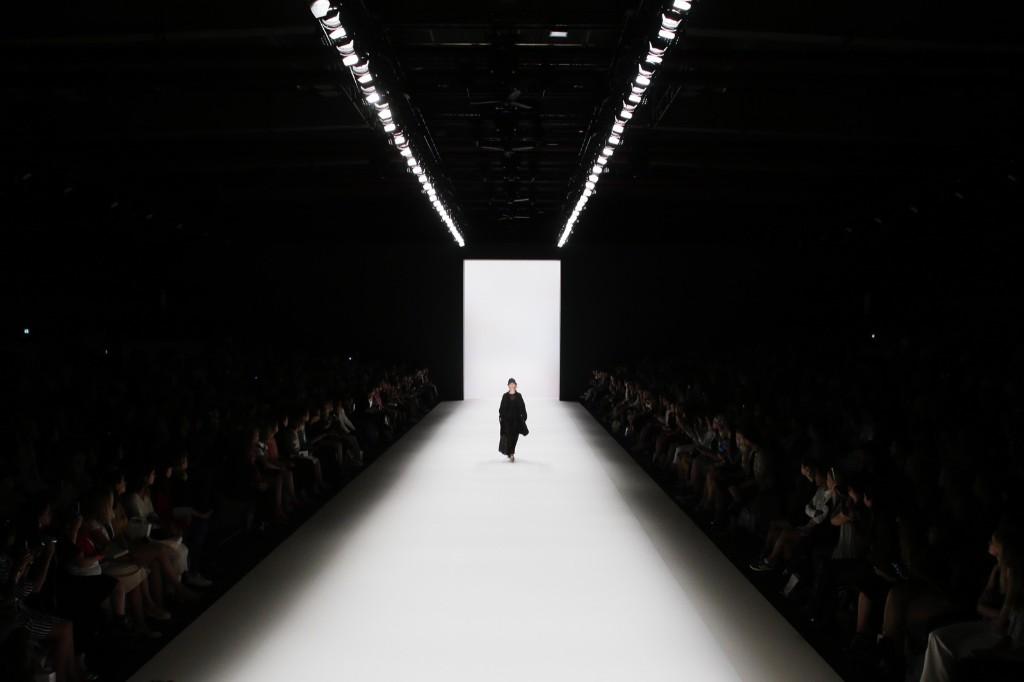 A model displays a 2017 spring/summer design by Steinrohner during Fashion Week in Berlin. AP Photo/Markus Schreiber