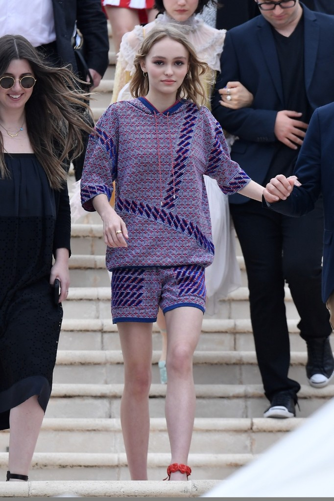 Lily-Rose Depp arrives at 'The Dancer' photo call. Jacopo Raule/GC Images