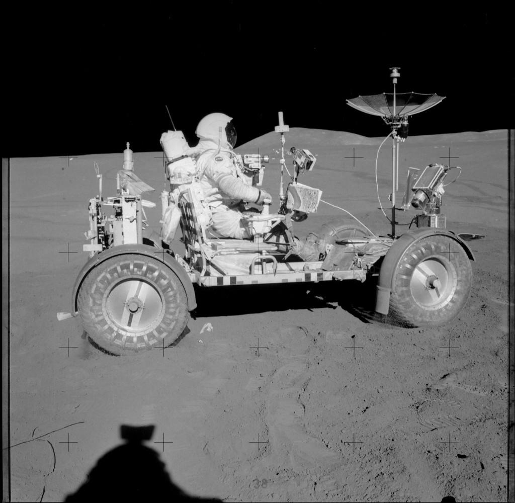 Apollo 15 Hasselblad image from film magazine 85/LL - SEVA, Pre-EVA-1, EVA-1 & 2. NASA Photo