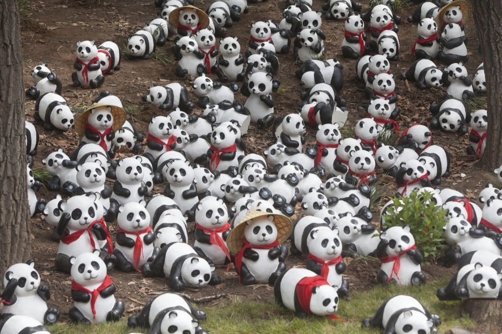Panda toys in the panda house of the Siberian Tiger Park in Changchun, China. ChinaFotoPress via Getty Images