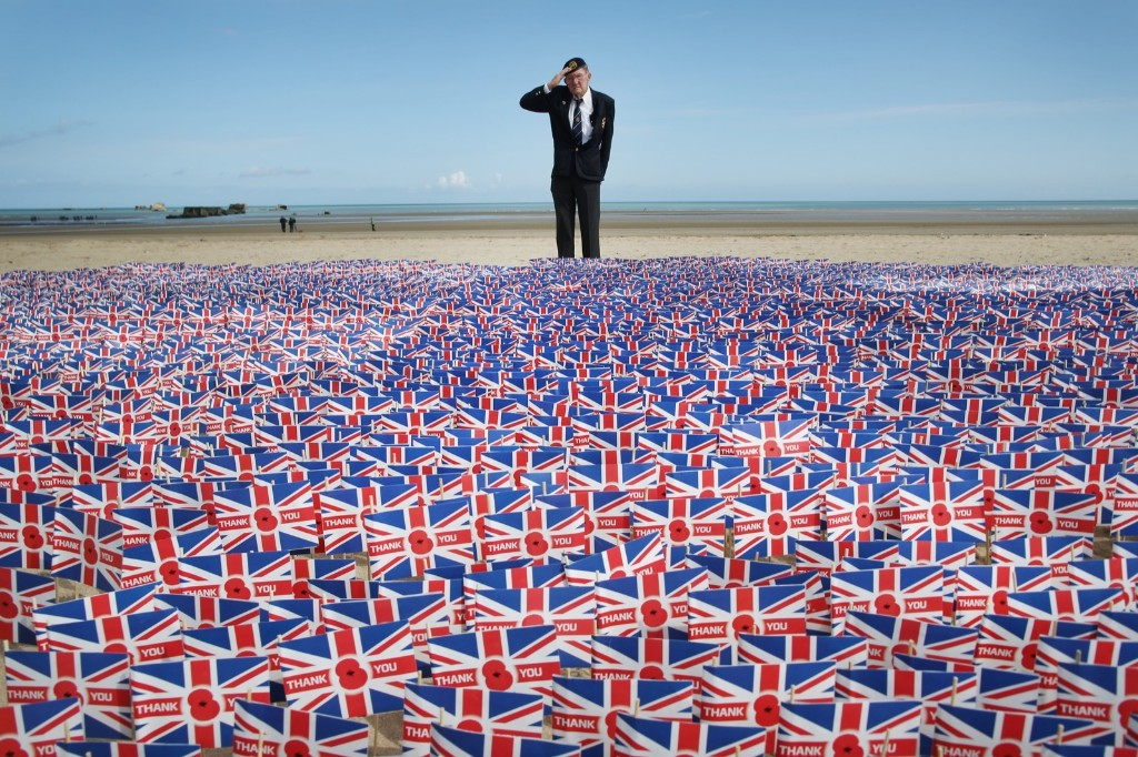British WW2 veteran Fred Holborn during the 70th anniversary of the D-Day landings at Gold Beach. Peter Macdiarmid/Getty Images